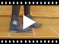 Video from Bota cremallera estrella glitter