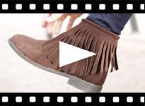Video from Botines Mujer y Niña Serraje con Flecos