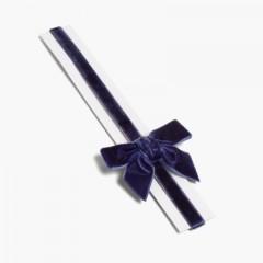 Diadema elástica de terciopelo con lazo Azul Marino