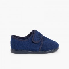 Zapatillas Casa tira adherente    Azul Marino