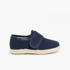 Zapato Blucher cinta adhesiva  Suela Alpargata Azul Marino