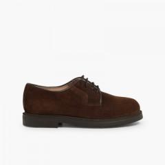 Zapatos blucher de serraje Marrón