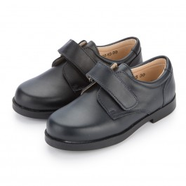 Zapato Colegial Escolares Niño Velcro