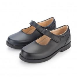 Zapato Colegial Merceditas Niña Velcro