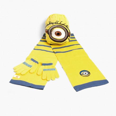 Set gorro, bufanda y guantes niños Disney Minions
