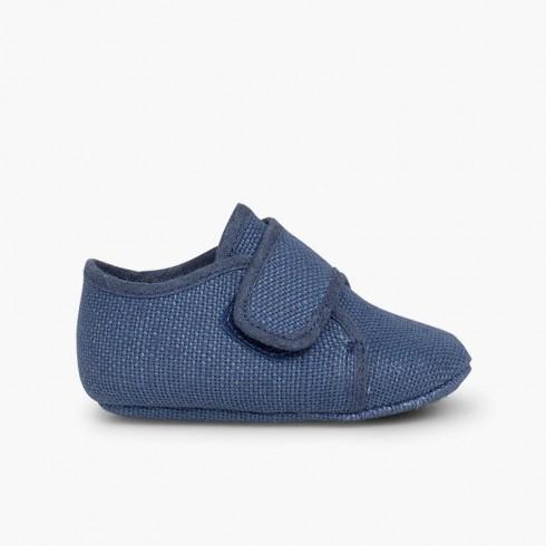 Badana Blucher bebé tira adherente    Azul
