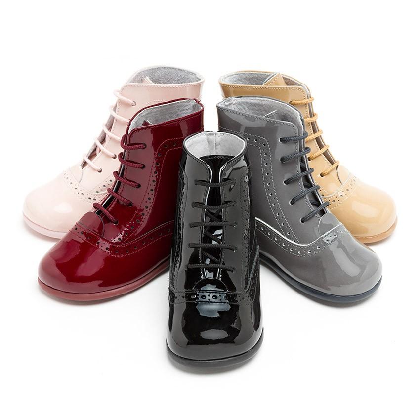 Botas pascualas para ni as charol zapater a infantil - Ideas para decorar zapatos de nina ...