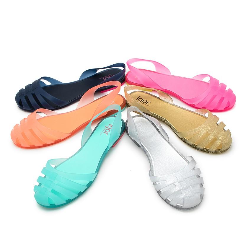 Sandalias de goma para mujer cangrejeras par s igor for Piscinas de goma
