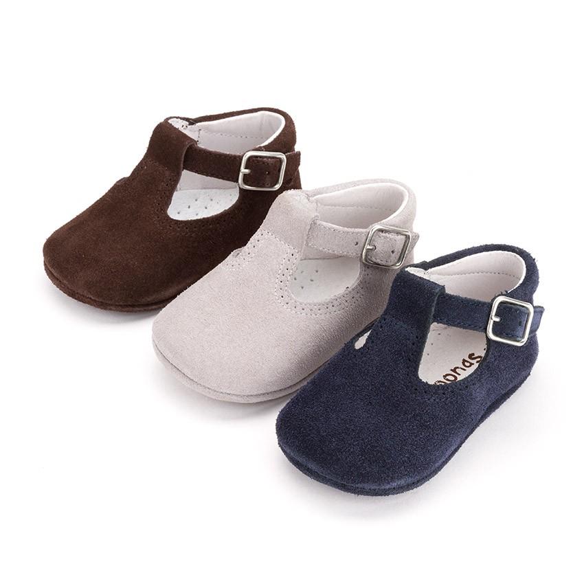 Pepitos Zapatos Bebé Serraje Hebilla