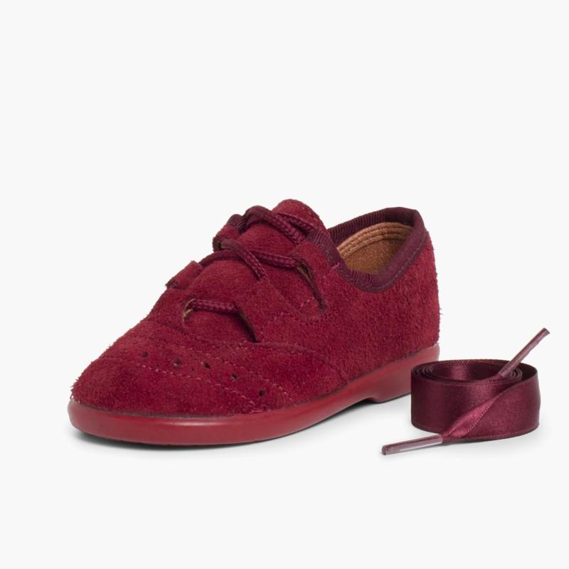 Derby Serraje Zapato Zapatos Oxford Inglés en Niños qYwqS14