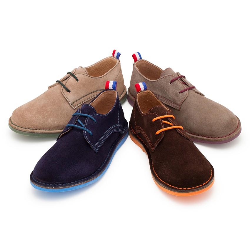 Zapatos Blucher Serraje Suela y Cordones Colores