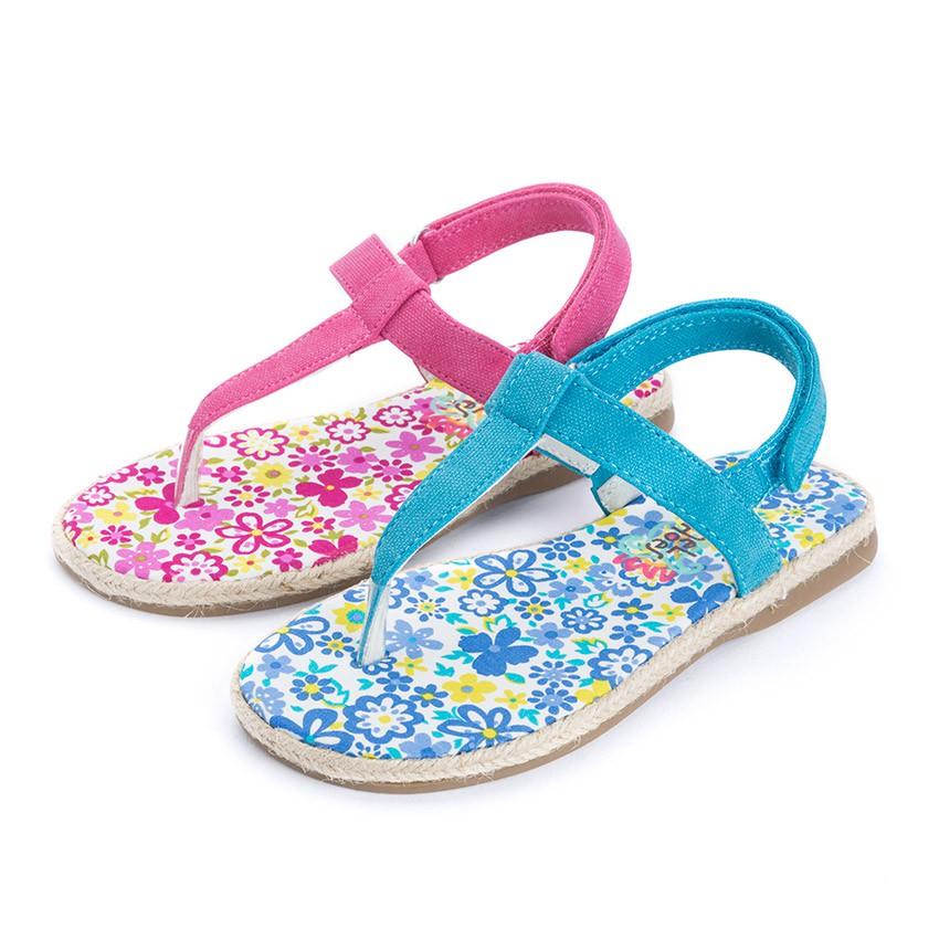 Sandalias de Dedo Lona Velcro para Niñas