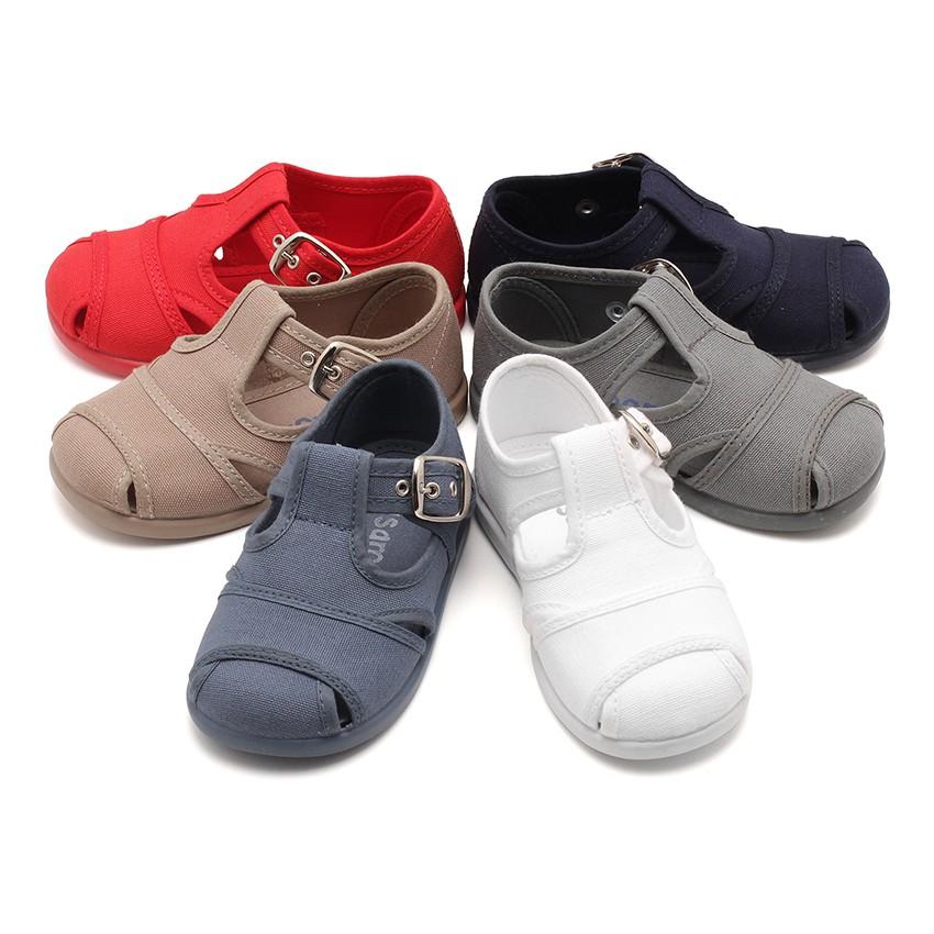 Sandalias Pepitos de lona abiertos