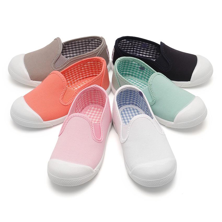 Zapatillas Lona sin Cordones con Elásticos Laterales