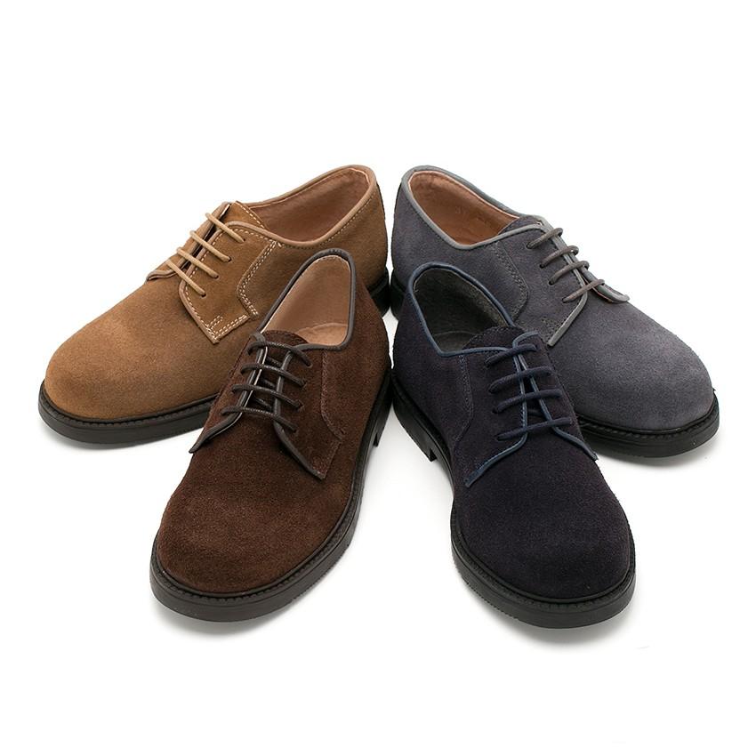 Zapatos blucher de serraje