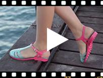 Video from Sandalias para Mujer con tira tipo romanas - Cangrejeras Laida