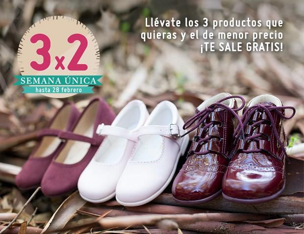 3x2 Febrero 2017 Zapatos Niña