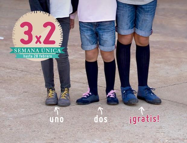 3x2 Zapatillas Niño