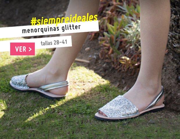 Menorquinas Glitter Mujer y Nina Primavera Verano 2017