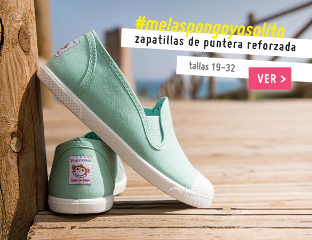 Zapatillas Lona sin Cordones con Elásticos Laterales Primavera Verano 2017
