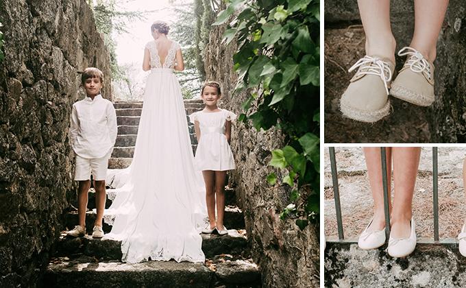Y si la boda no es de las clásicas, sino que es tipo ibizenca, campestre o marinera las alpargatas y valencianas o menorquinas avarcas son el zapato ideal!