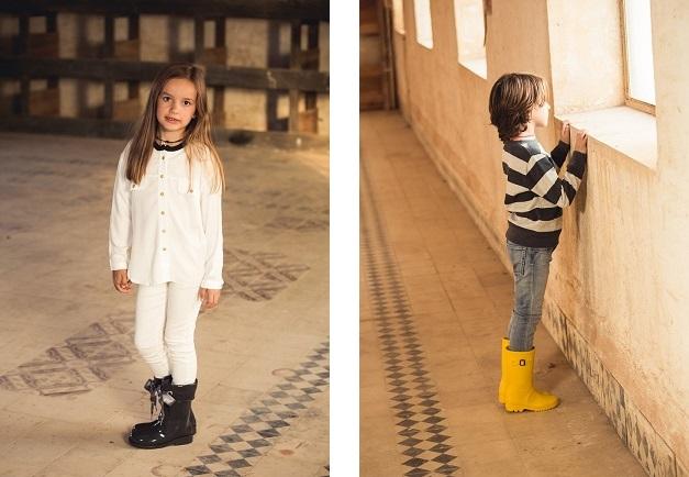Looks con botas de agua para niños