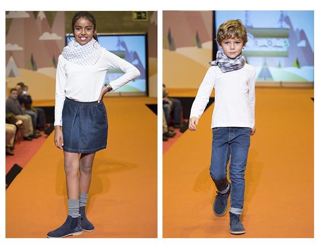 Desfile zapatos casual niña y niño
