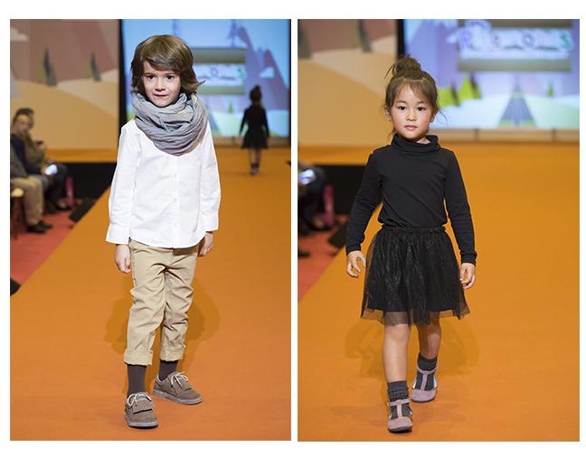Desfile zapatos vestir niña y niño