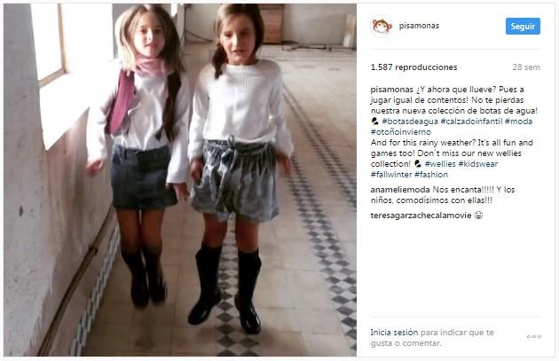 Instagram pisamonas boomerang niñas saltarinas