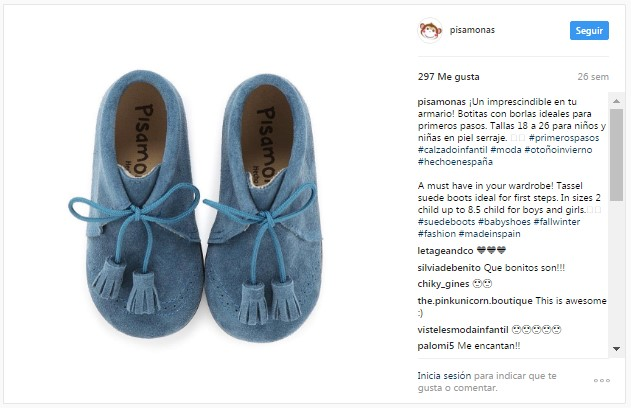 Instagram pisamonas botas primeros pasos