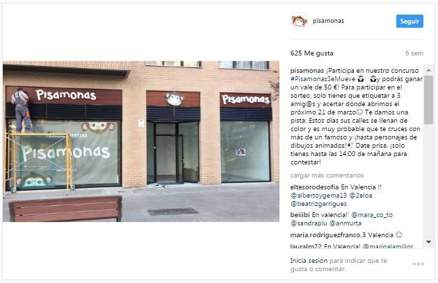 Instagram pisamonas nuevas tiendas Bilbao Valencia Sevilla