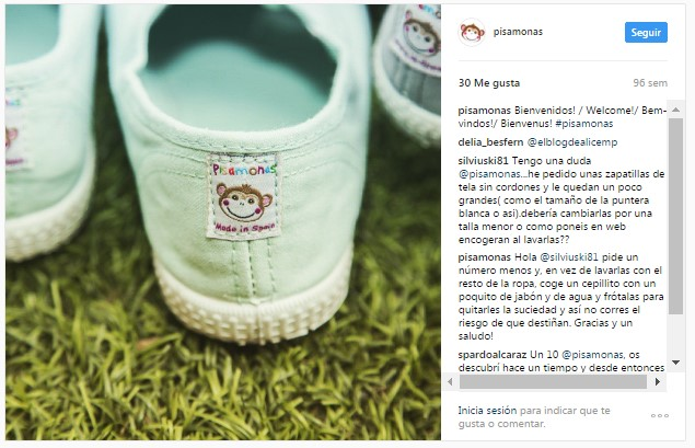 Instagram pisamonas zapatillas