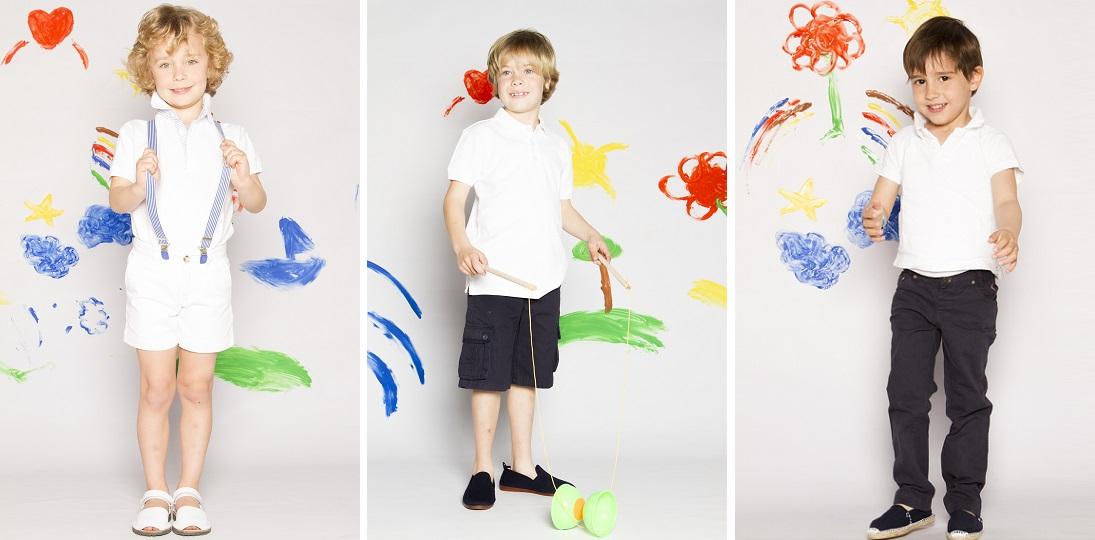 Conjuntos marineros para niños primavera verano 2014 en Pisamonas